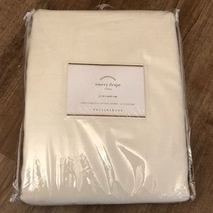 Pottery Barn Emery Linen Curtain 50x96 Ivory 3 / 1